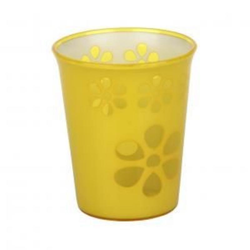 Стакан 0,2л Соблазн желтый пластик