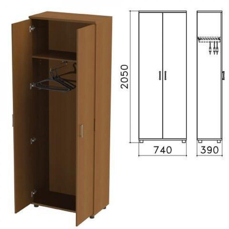 Шкаф для одежды Монолит 740х390х2050мм орех
