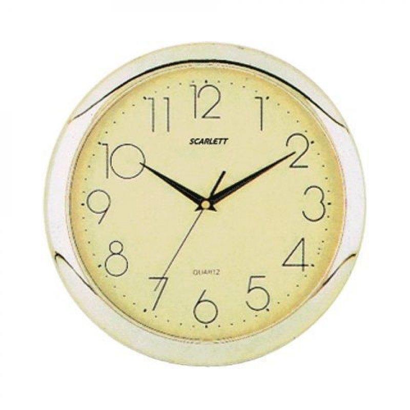 Часы настенные Scarlett SC-45C круг золотистые 288мм