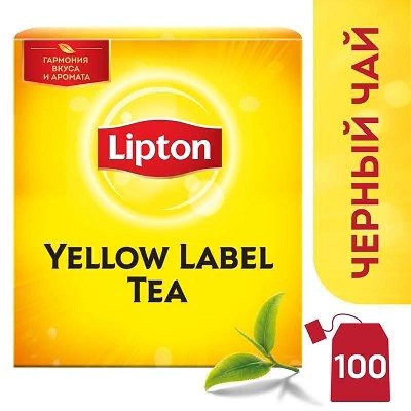 Чай Lipton Yelloy label 100шт в пакетиках черный