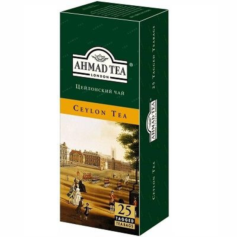 Чай Ahmad Ceylon 25шт в пакетиках черный