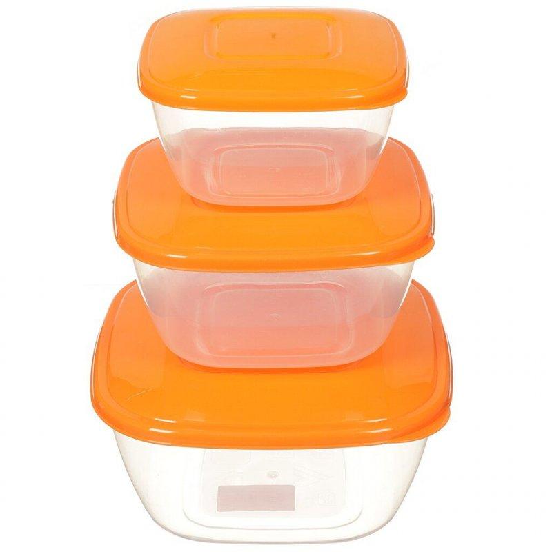 Набор емкостей для СВЧ 3пр Ассорти пластик