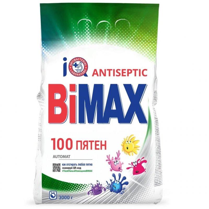 Стиральный порошок 3000г автомат 100 пятен BiMax