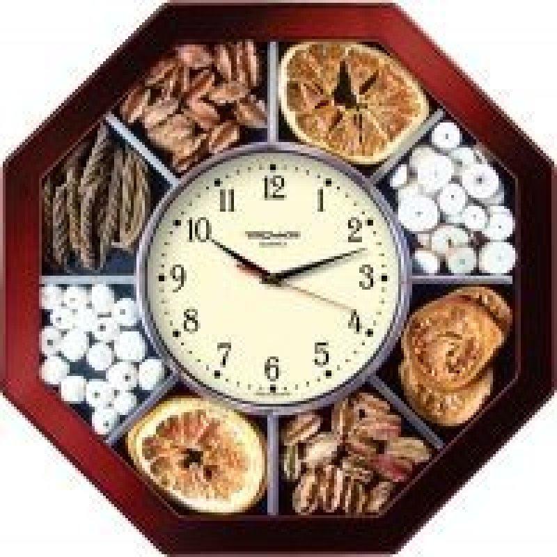 Часы настенные В-Тройка 41431321 восьмигранник специи 290мм