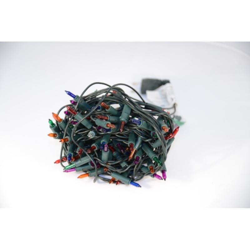 Гирлянда электрич 100ламп разноцветная 7м