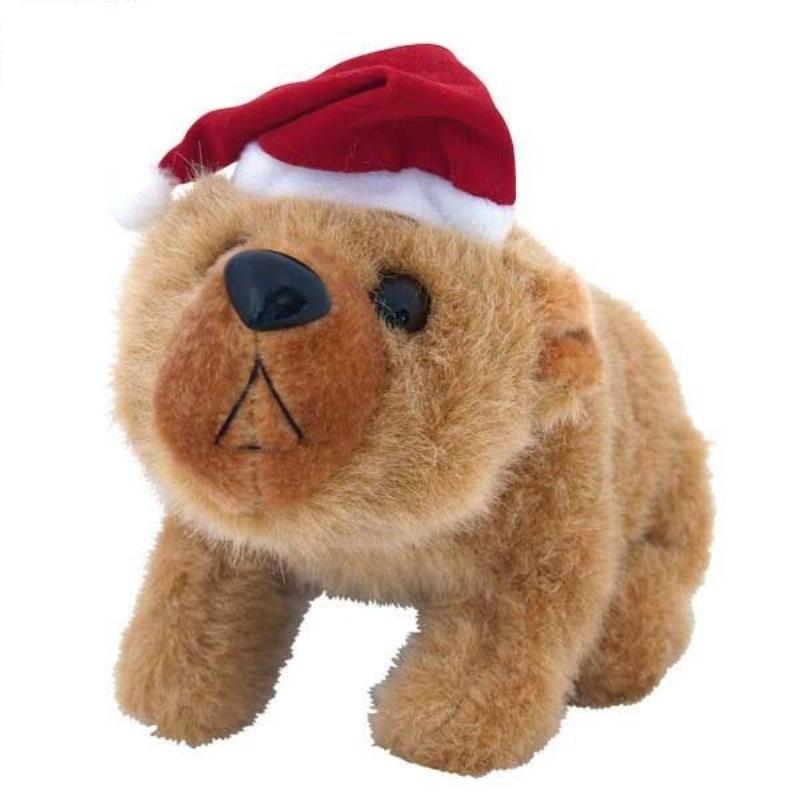 Новогодняя игрушка Бурый Мишка муз 23см