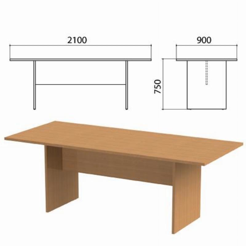 Стол для переговоров Этюд 2100х900х750мм цвет бук бавария