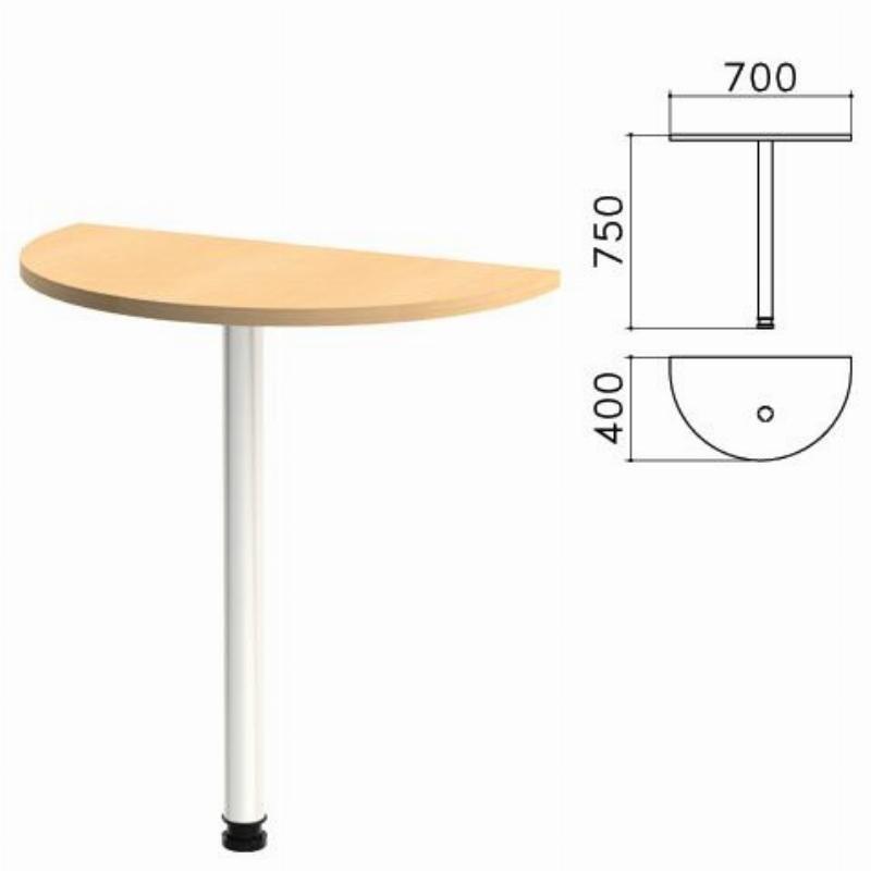 Стол приставной Монолит 700х400х750мм комплект бук