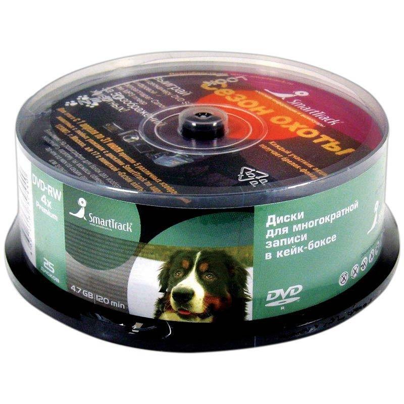 Диск DVD-RW Smart Track 4.7Gb 4x туба 25шт