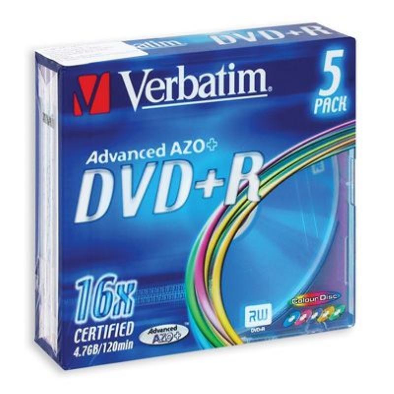 Диск DVD-R Verbatim 4.7Gb 16x slim 5шт
