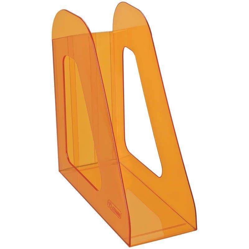 Стойка для бумаг Стамм Фаворит Манго тонированная оранжевая