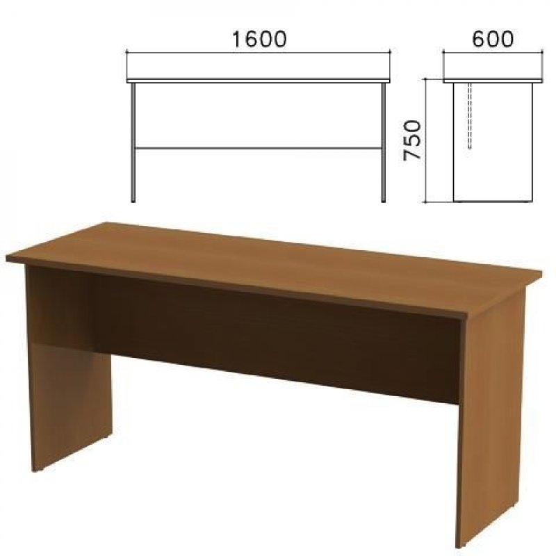Стол письменный Канц 1600х600х750мм орех