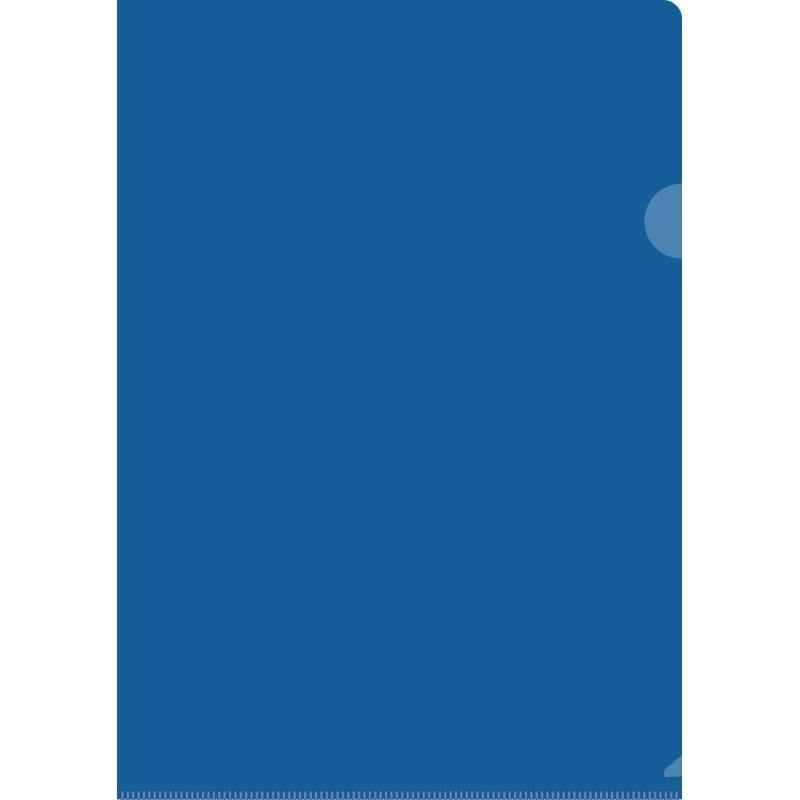 Папка-угол (карман) Berlingo 0,15мм тонированная синяя