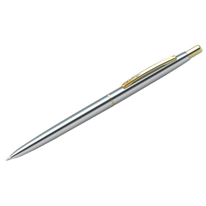 Ручка шариковая подарочная Berlingo Golden Prestige 0,7мм корпус хром/золото синяя