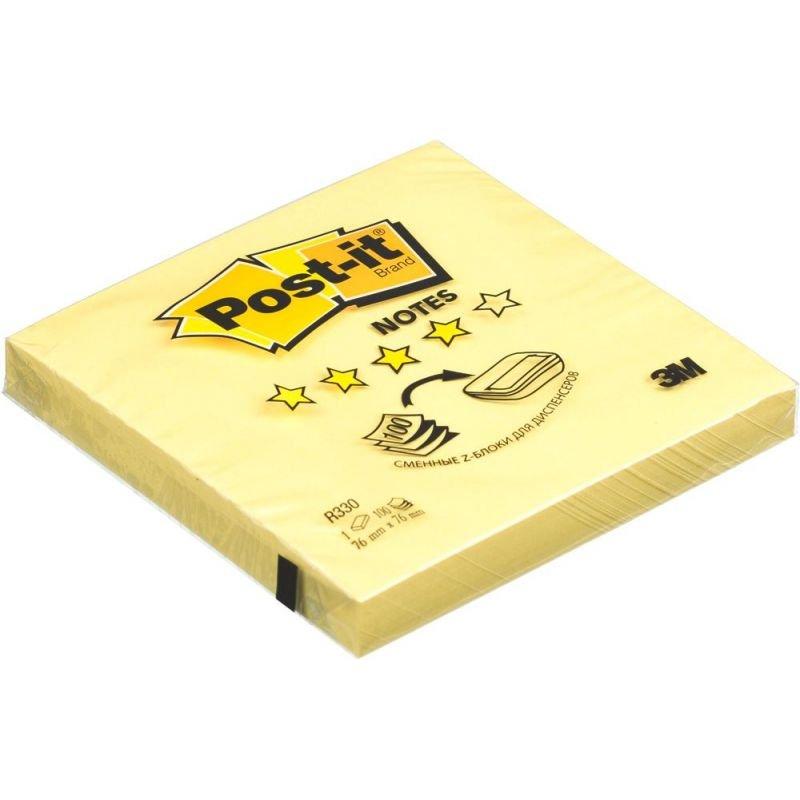 Блок для записей самоклеящийся 76х76мм Post-it 100л пастель желтый