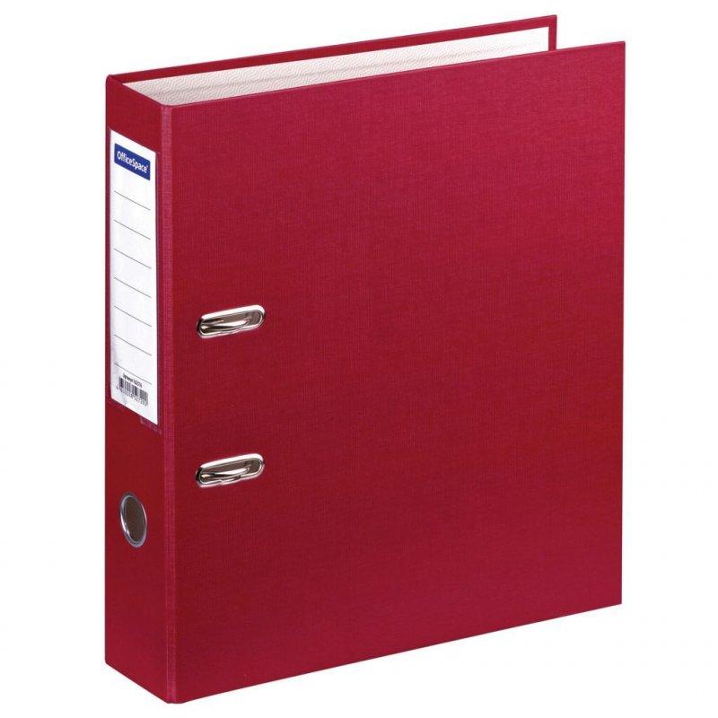 Папка-регистратор 70мм OfficeSpace бумвинил карман бордо