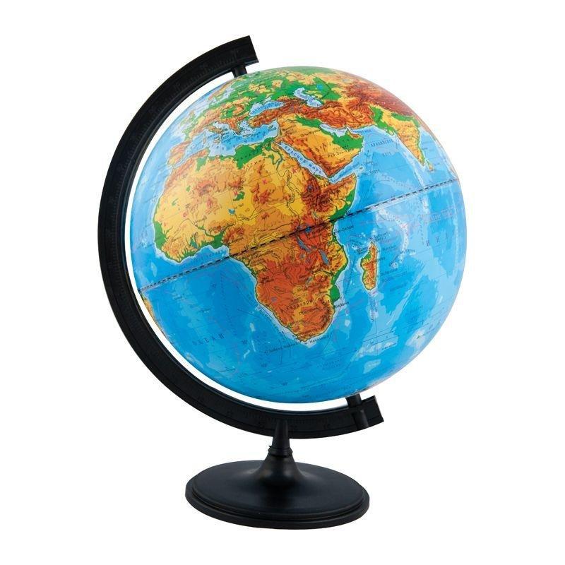 Глобус с физической картой D=32см