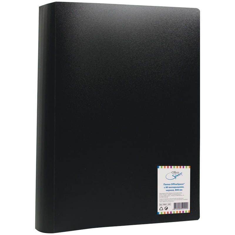 Папка 80 вкладышей OfficeSpace 0,6мм ассорти