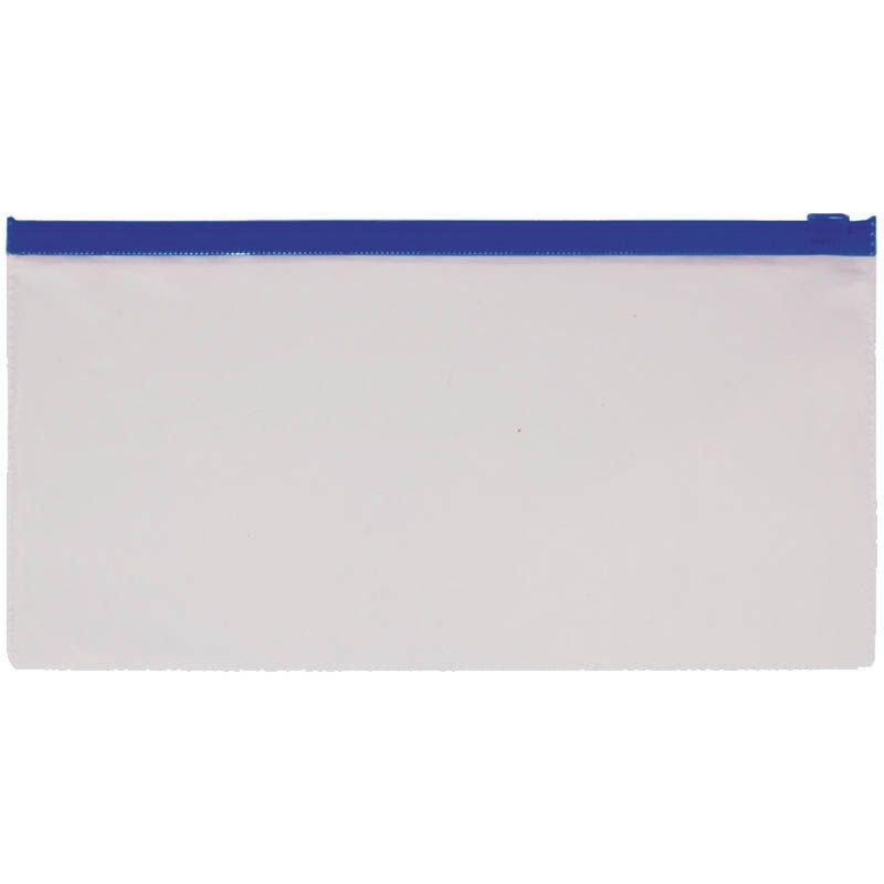 Папка-конверт на молнии А5 Стаф 225х130мм для билетов прозрачная