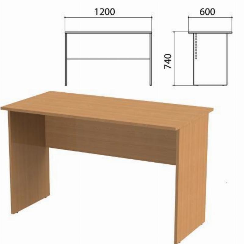 Стол письменный Эко 1200х600х740мм бук бавария 55