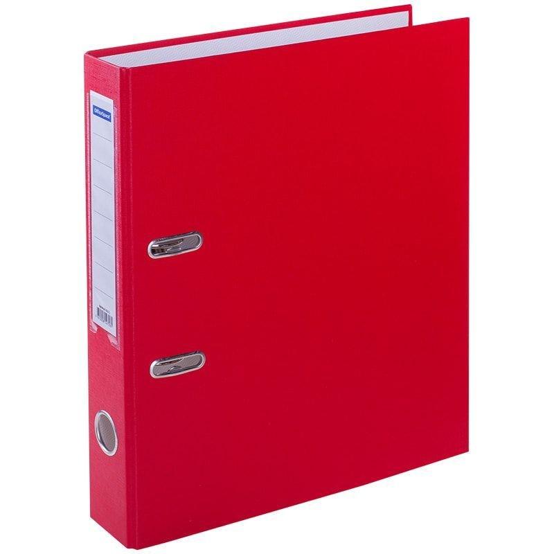 Папка-регистратор 50мм OfficeSpace бумвинил карман красная