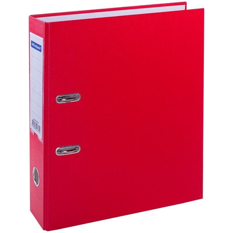 Папка-регистратор 70мм OfficeSpace бумвинил карман красная
