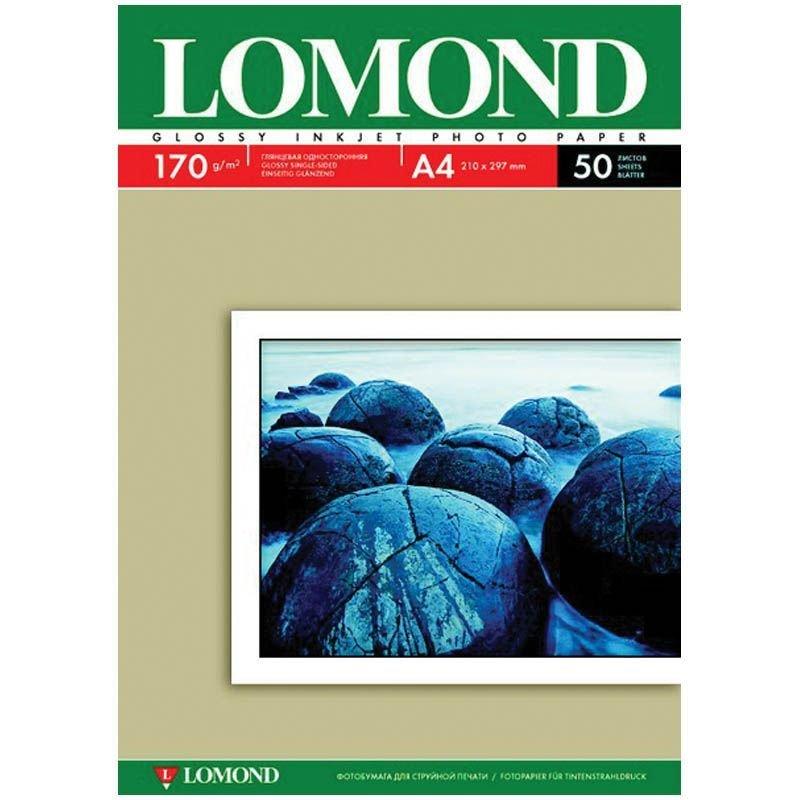 Фотобумага Lomond А4 170г/м2 50л односторонняя глянцевая