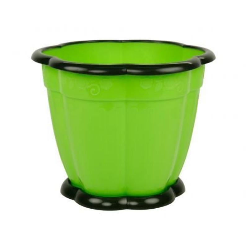 Горшок Восторг 3л с поддоном зеленый
