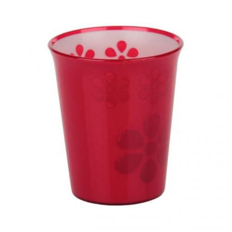 Стакан 0,2л Соблазн красный пластик
