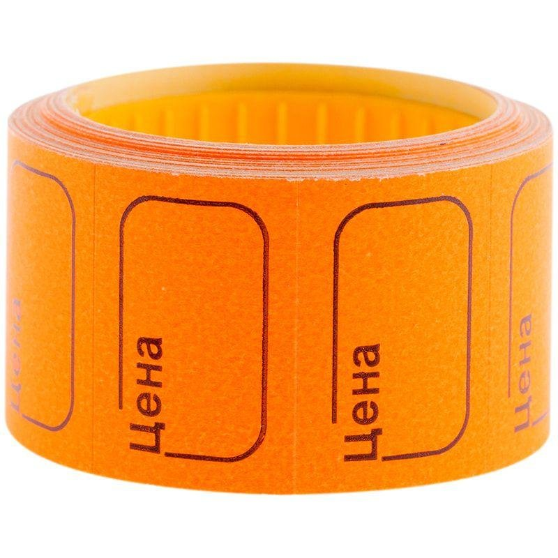 Ценник Цена OfficeSpace 30х20мм 200 этикеток оранжевые