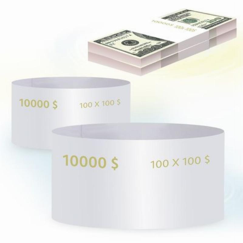 Кольцо бандерольное 100 долларов 500шт/уп