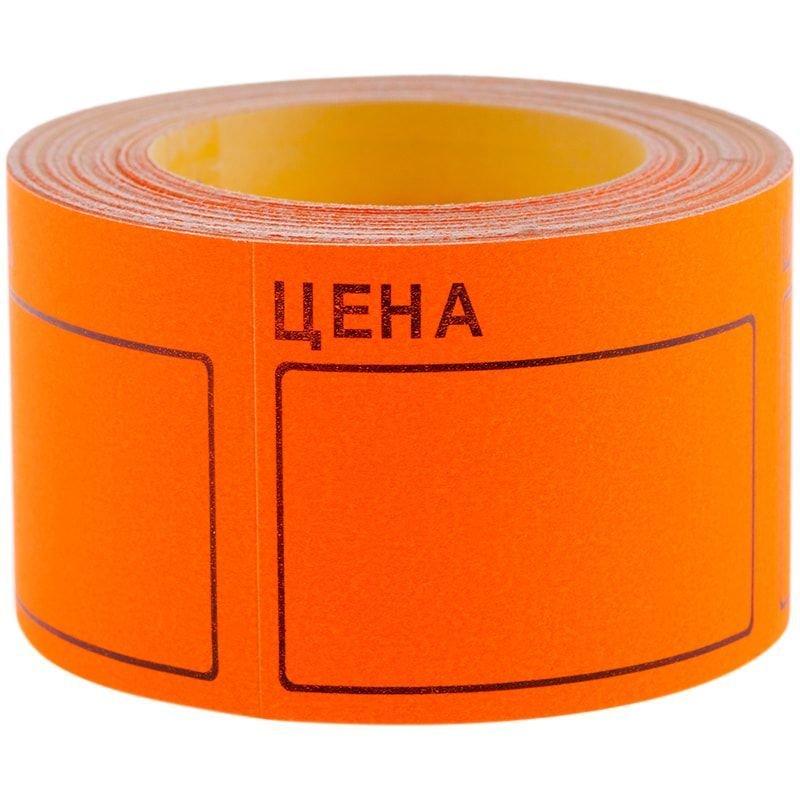 Ценник Цена OfficeSpace 40х50мм 200 этикеток оранжевый