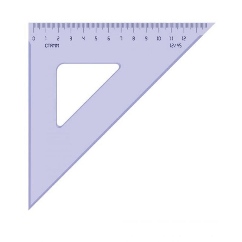 Треугольник 12см 45град Стамм тонированный прозрачный