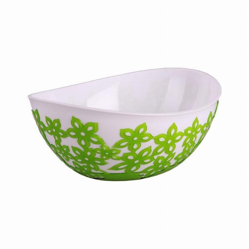 Салатник 2,8л Виктория зеленый пластик