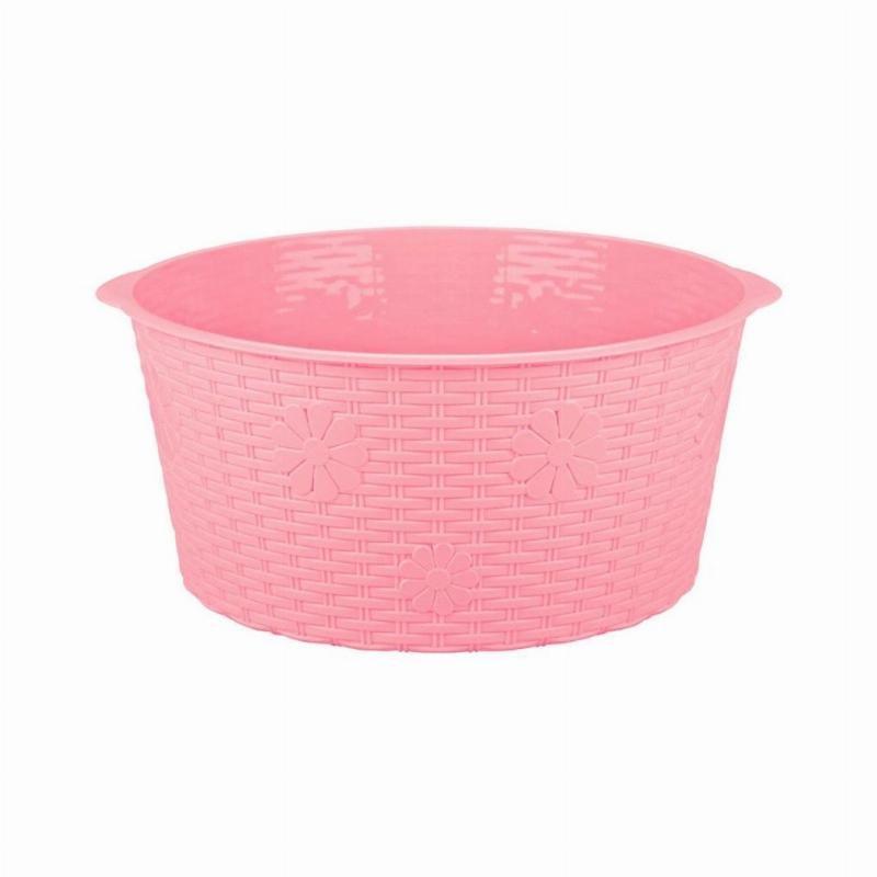 Таз 20л Плетенка розовый