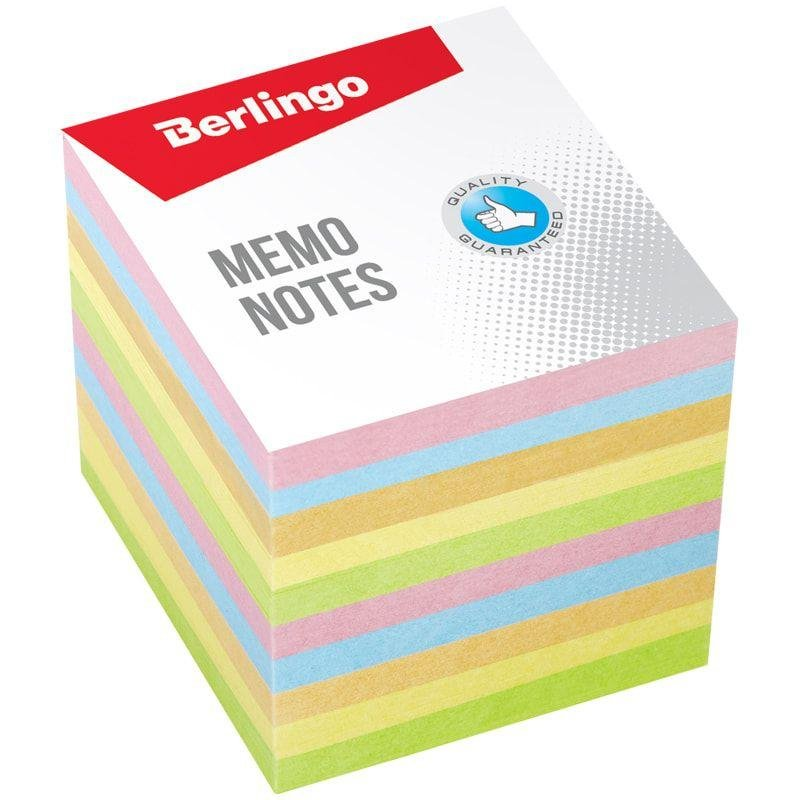 Блок для записей 90х90х90мм Berlingo Standart цветной запасной