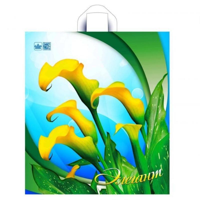 Пакет птл ручка 40x44см 43мкм Парфюм Розы/Лилии/Синяя симфония/Элегант