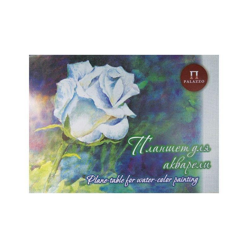 Папка для акварели А3 20л Белая роза тиснение лен