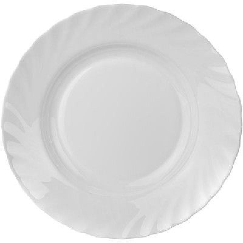 Тарелка 225мм Трианон суповая белая стекло