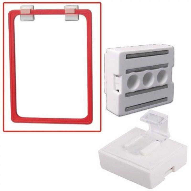 Держатель рамки POS для крепления параллельно поверхности магнитный белый