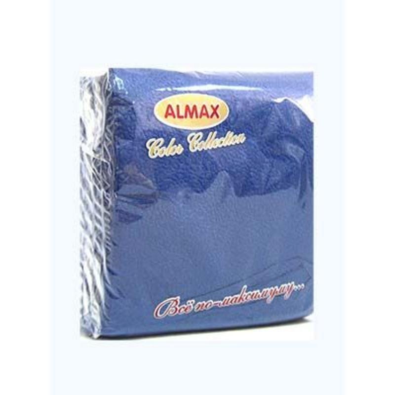 Салфетки Almax Classic 24х24см 1сл 100л синие