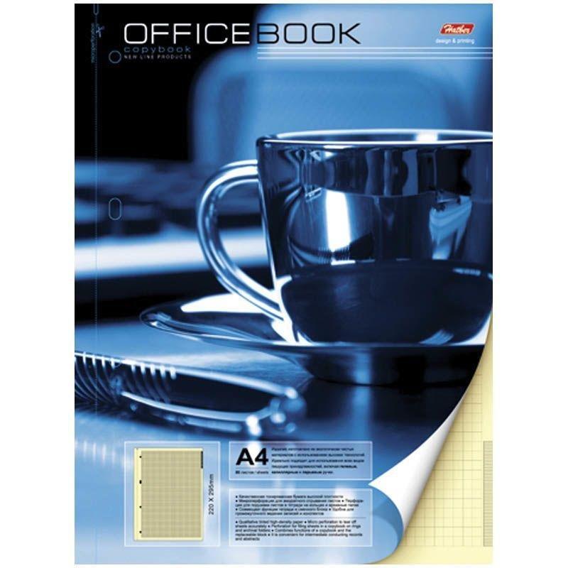 Тетрадь А4 80л Чашка кофе клетка гребень