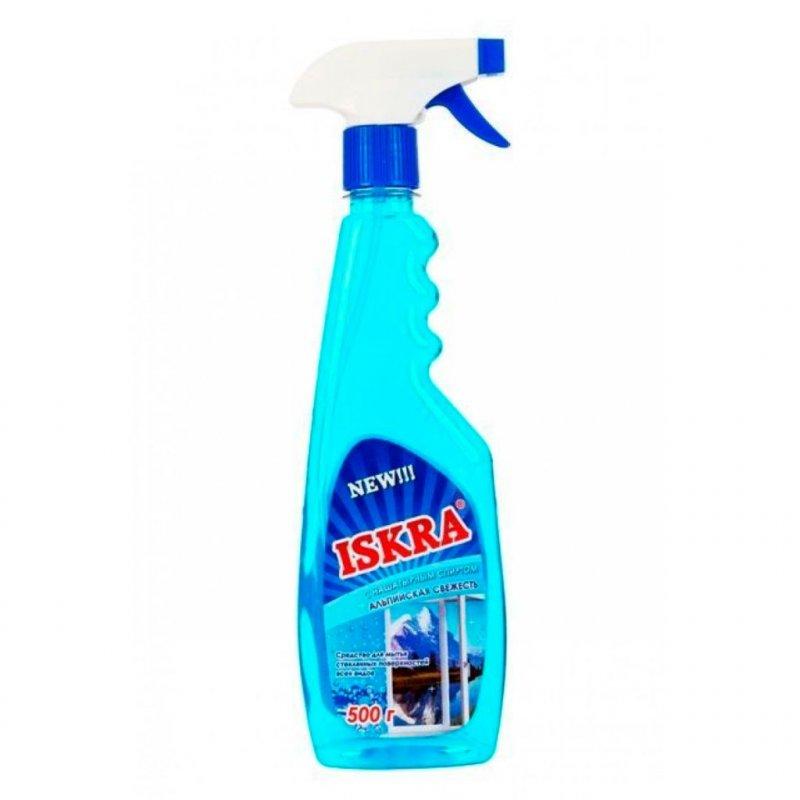Средство для мытья стекол 500мл Бархат Искра с нашатырным спиртом курок