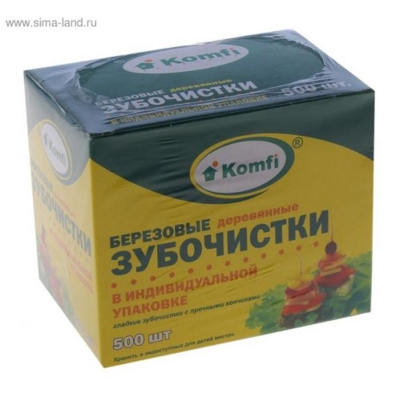 Зубочистки деревянные коробка 500шт/уп