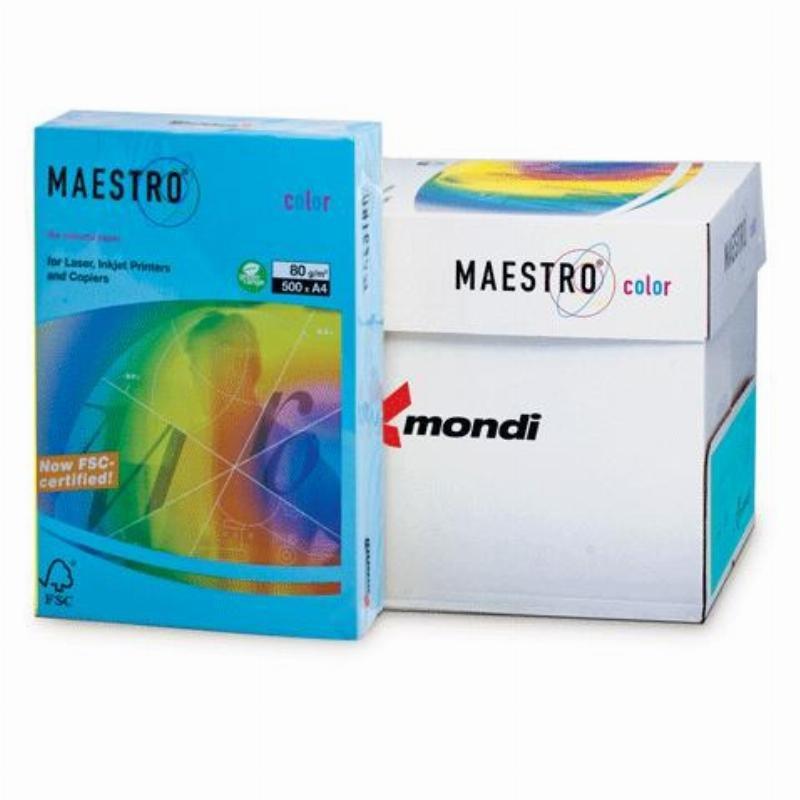 Бумага IQ/Maestro Color А4 80г/м2 500л светло-синяя