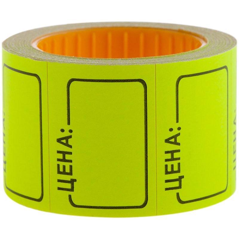 Ценник Цена OfficeSpace 35х25мм 200 этикеток желтый