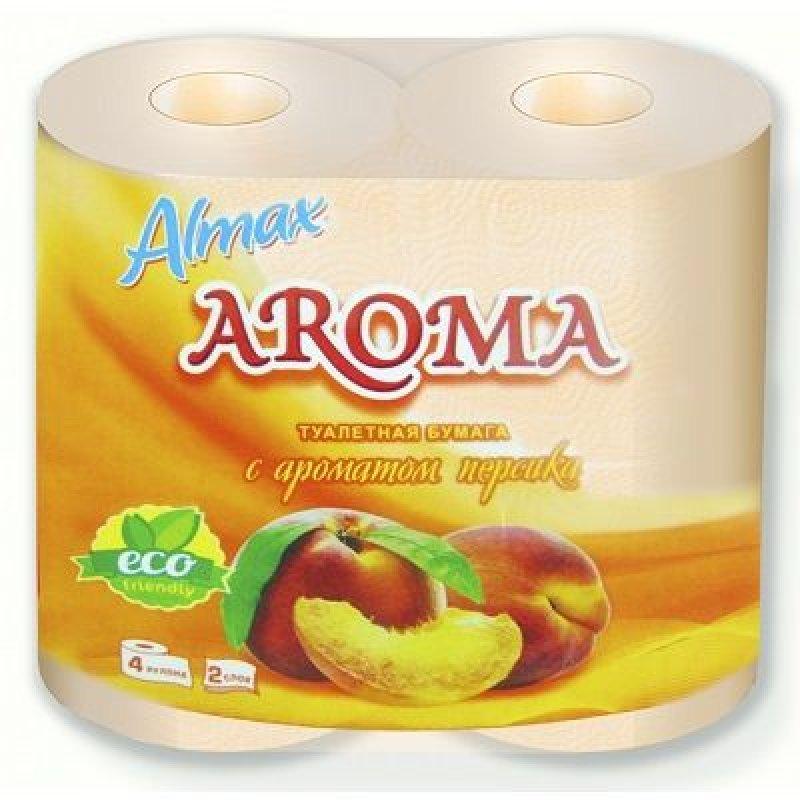 Бумага туалетная Almax Aroma Eco 2-сл 4шт/уп персик