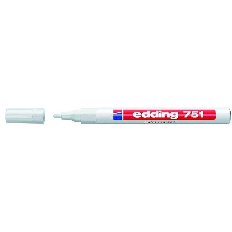 Маркер промышленный Edding E-751/49 для универсальной маркировки 1-2 мм белый