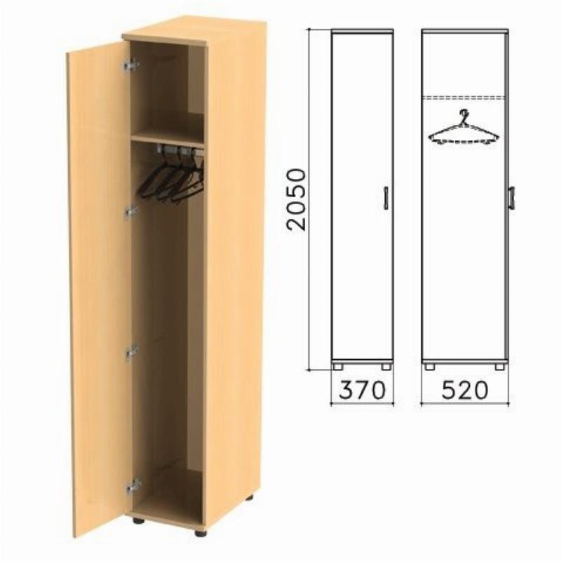 Шкаф закрытый Монолит 370х520х2050мм бук