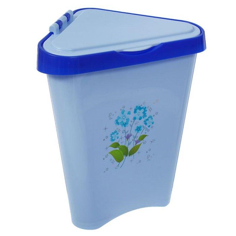 Контейнер для мусора 7л пластик угловой